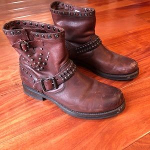 Studded FRYE boots Size 8